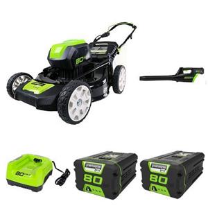 "GreenWorks Pro 80V 21"" Lawn Mower + Blower"