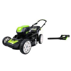 GreenWorks Pro 80V Cordless Lawn Mower + Blower