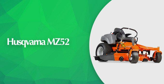Husqvarna MZ52 Kohler Engine 52-Inch Zero Turn Mower Review